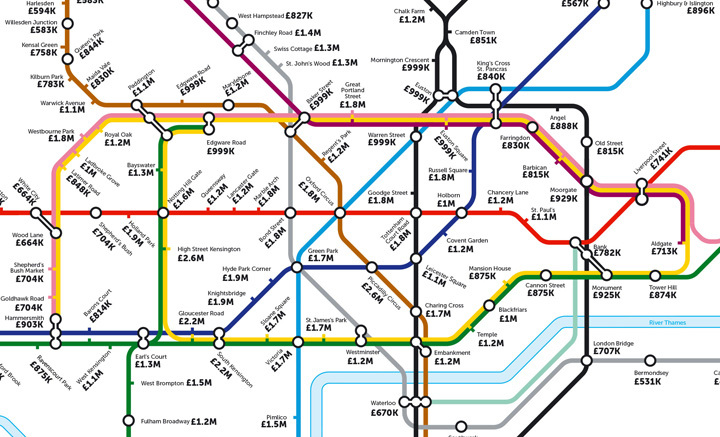 The Map You Don't Want To See: House Prices In London